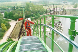 Permanent fall protection HonoRail 8800 Hight Safety maintenance Rollercoaster