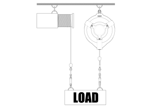 VallastbeLoad arrestor fall protect heavy objects up to against possible fallveiliging