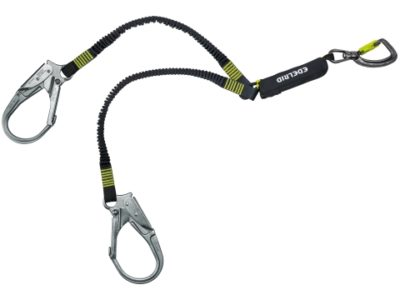 Safety Y-lanyard Shockstop Pro Twister Triple (Edelrid)