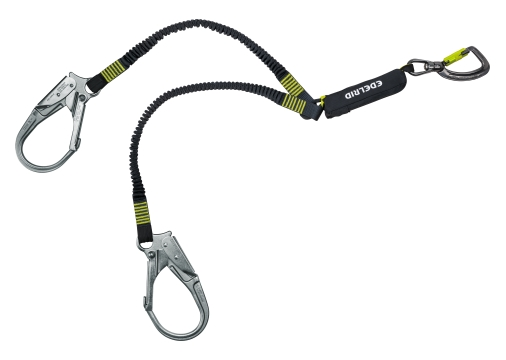 Safety Y-lanyard Shockstop Pro Twister Triple (Edelrid)