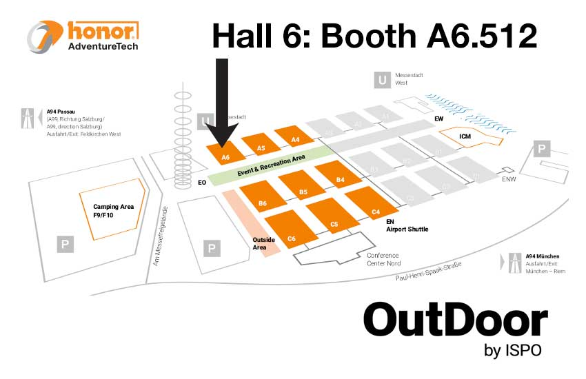 Floorplan-Hal6-ISPO-Munich-2019-HONOR-AdventureTech-UK