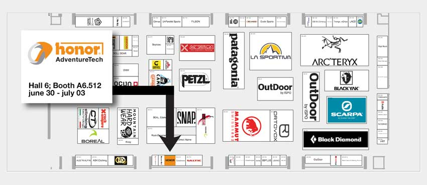 Floorplan-stand-A6.512-ISPO-Munich-2019-HONOR-AdventureTech-UK