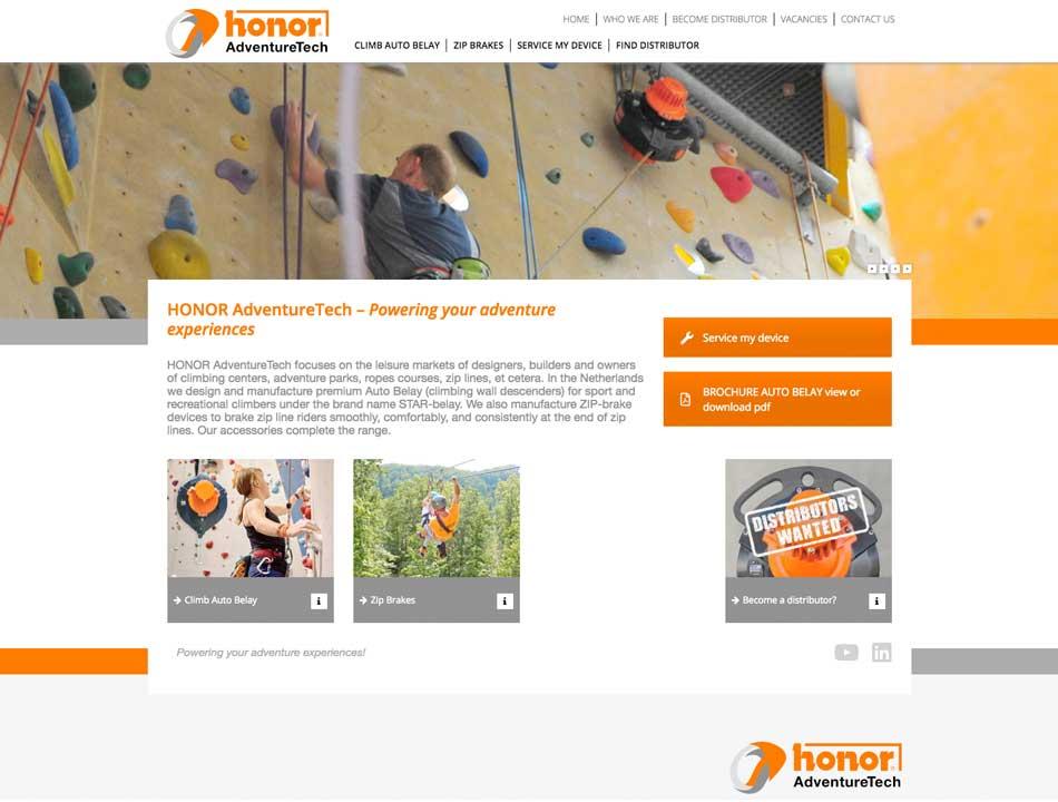 website HONOR AdventureTech